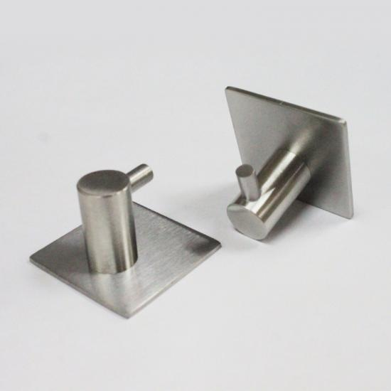 Heavy duty wall mounted adhesive metal hooks