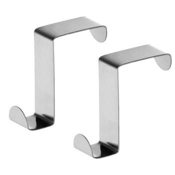 Metal Stainless Steel over the door Z type towel hook for bathroom