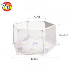 hexagon mesh fabric portable baby playpen