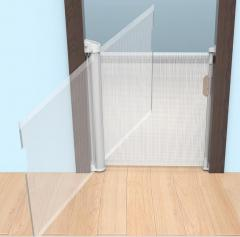 upgrade rotate secure lock baby gate with door