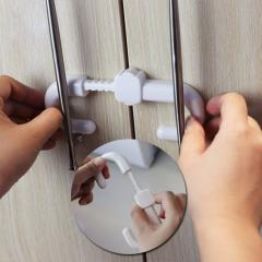 Baby slider door lock