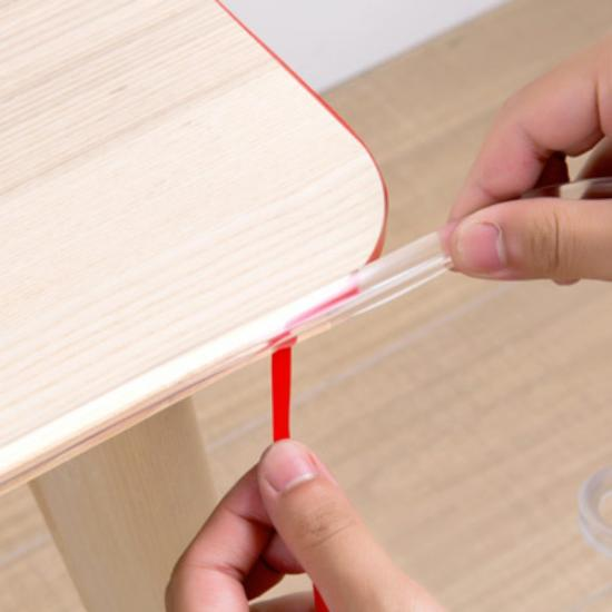 transparent 6 meters long baby proof table edge strip for furniture