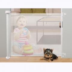 One Hand Use Child Proof Retractable Mesh Baby Gate