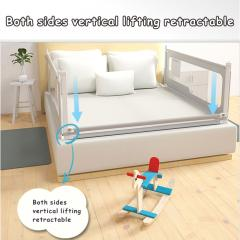 ​Funny printing bed rail mesh baby fence